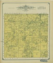 Michigan Township Map by 1914 Springville Township Springville Township
