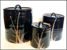 kitchen canisters black kitchen canisters sets image of black kitchen canister set vintage