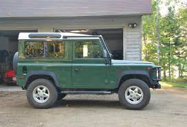 green land rover 1995 land rover defender 90 station wagon for sale the motoring