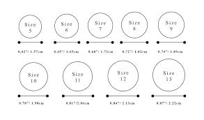 wedding ring sizes wedding ring size chart ricksalerealty
