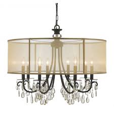 Tiffany Chandelier Lamps Chandelier Rectangular Drum Chandelier Linen Drum