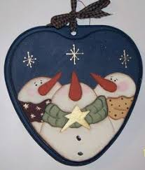 hand painted tole wood nativity heart christmas ornament kathy u0027s