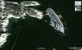 Find Map Coordinates See Haunting Images Of Costa Concordia Shipwreck On Google Maps