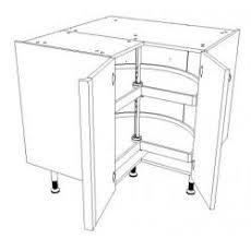 panier tournant pour meuble cuisine meuble bas d angle pour cuisine équipée largeur 90 cm x 90 cm