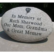 garden memorial personalized memorial stone big hug llc