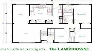 foot floor plan for ranch home sq ft plans house under small 1000