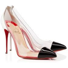 christian louboutin demi you 100mm patent leather peep toe pumps