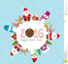 happy new year 2016 and merry stock vector image 57086281