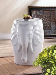 elephant end tables ceramic l white elephant statue ceramic outdoor furniture garden stool end