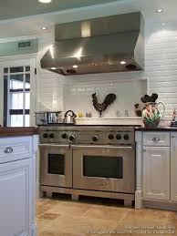 Oven Backsplash Subway Tile Backsplash Shelf Wolf Range Designer