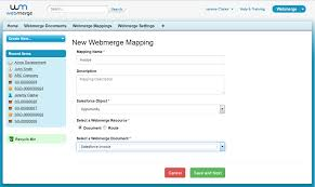 generate an invoice from an opportunity won in salesforce webmerge