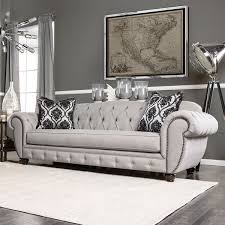 Gray Sofa Bed Furniture Of America Augusta Victorian Grey Sofa Free Shipping