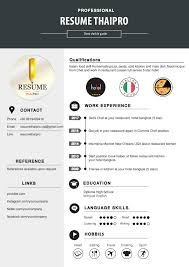 Demi Chef Resume ร บทำ Resume ร บทำ Infographic By Resumethaipro 2017
