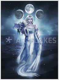 the moon goddess digital prints and posters by kindt
