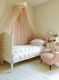Bed Canopy With Lights Pink Bed Canopy Decorated With String Lights In A Bedroom