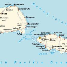 map samoa map of samoa maps and directions at map
