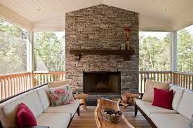 Outdoor Fireplace Surround by Houzz Fireplace Mantels Deck Transitional With Wood Fireplace