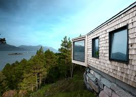 rever u0026 drage u0027s holiday cabin looks onto a norwegian fjord