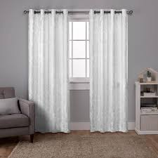 Winter Window Curtains Watford Winter White Silver Distressed Metallic Print Thermal