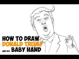 how to draw donald trump easy step by step for beginners