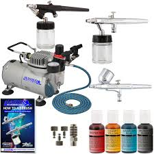 3 airbrush cake decorating system kit air compressor chefmaster