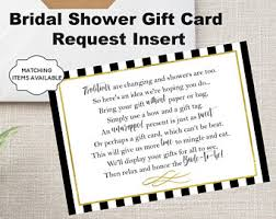 gift card bridal shower display shower card etsy