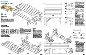 picnic table bench plans classic rectangle picnic table with benches woodworking plans design