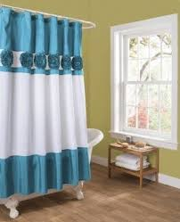 Navy And White Striped Shower Curtain Navy Blue Shower Curtains Foter