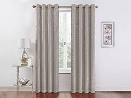 Grey Metallic Curtains Regal Home Collections 54 Inch X 84 Inch