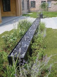 child safe water feature landscape contemporary with rill resin