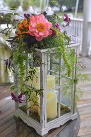 Lantern Centerpiece Lantern Centerpiece With Fresh Flower Accents