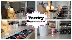 how to organize your bathroom vanity vanity organization featuring my ikea malm dressing table youtube