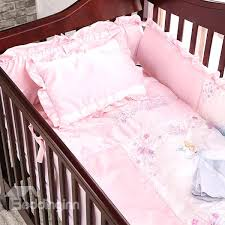 cartoon pattern cotton princess 7 piece baby crib duvet covers