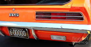 1969 camaro tail lights 1969 chevrolet camaro rs orange rear end 7609 photograph by