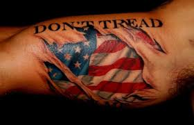 american flag skin rip tattoo for men
