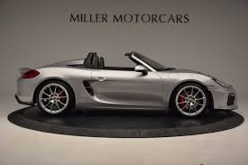porsche boxster 2016 black 2016 porsche boxster spyder stock 4307a for sale near greenwich