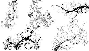 decorative floral ornaments vectorish