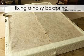 Squeaky Floor Repair Fixing A Noisy Boxspring