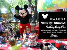 mickey mouse birthday party hotdog mega mickey mouse birthday party plan
