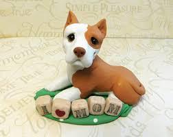american pitbull terrier figurines pitbull lover etsy
