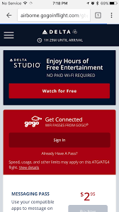 Delta Airlines Inflight Movies by Free Wifi On Delta Flights