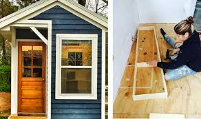 Tiny House For 5 Thirteen Year Old Sicily Kolbeck U0027s Self Built Tiny Home Is