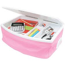 portable lap desk with storage storage lap desk with ipod speakers pink in lap desks