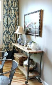 console table used as dining table dining room consoles benches under console table behind the