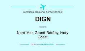 Dign Dign Nero Mer Grand Béréby Ivory Coast In Locations Regional