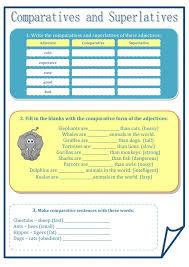 11 best comparatives and superlatives esl english worksheets