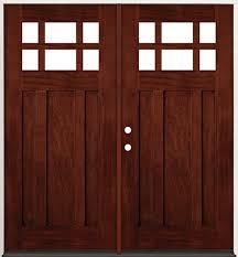 Prehung French Door - cheap 6 lite craftsman mahogany prehung double wood door unit 43