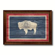 Housewarming Decoration Ideas by Wyoming State Flag Home Decor Office Wall Art Decoration Bedroom