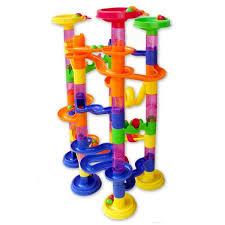 building block marble run toys megadream kids coaster 105 piece set building blocks race marbles railway construction early educational maze puzzle toys