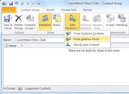 how to create an outlook address book in 2013 create and use contact groups in outlook 2010